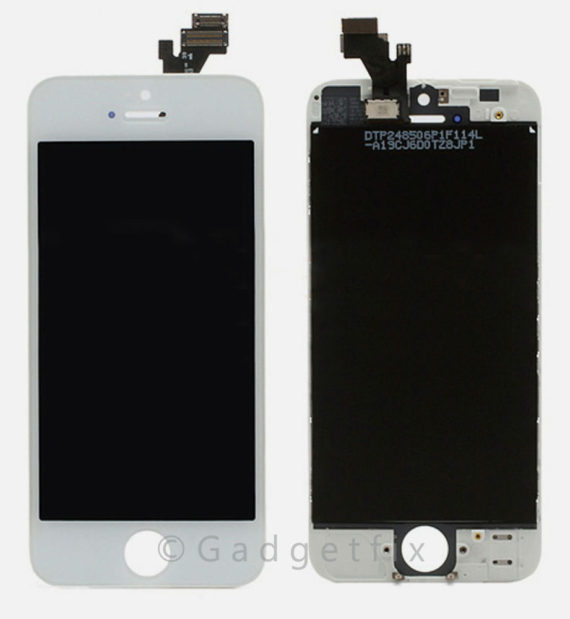 LCD Assembly A/M - iPhone 5 LCD Screen (A/M Quality)  - White