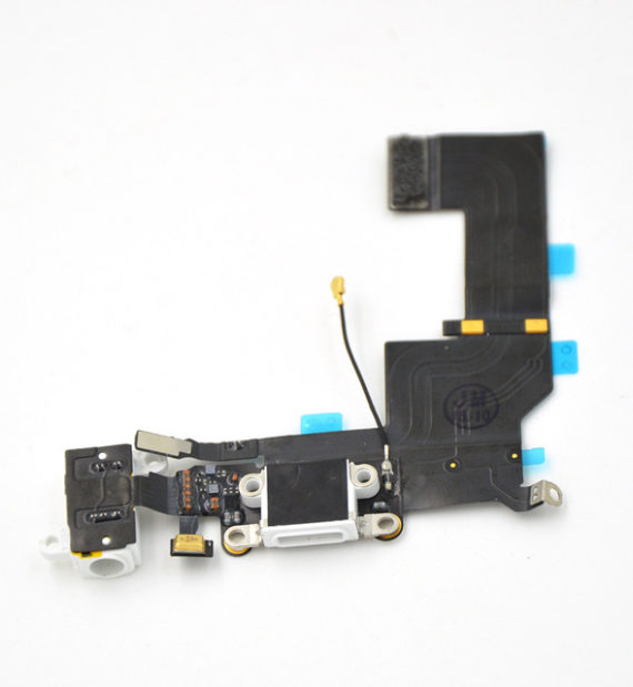 dock / charging flex with headphone jack - iPhone 5S Charging Dock Flex Cable  - White