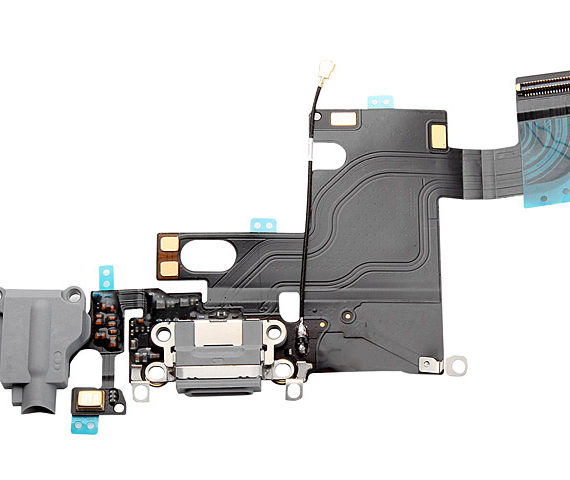 dock / charging flex with headphone jack - iPhone 6 Charging Dock Flex Cable - Gray
