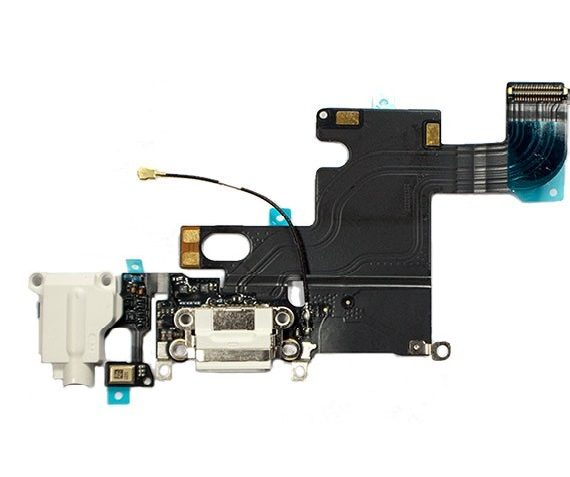 dock / charging flex with headphone jack - iPhone 6 Charging Dock Flex Cable - White