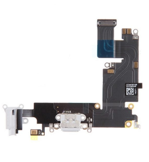 dock / charging flex with headphone jack - iPhone 6 Plus Charging Dock Flex Cable  - White