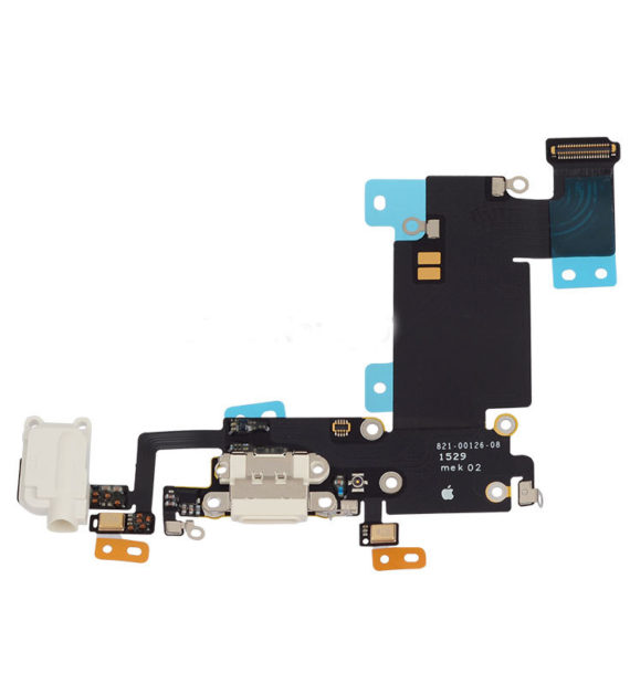 dock / charging flex with headphone jack - iPhone 6S Plus Charging Dock Flex Cable - White
