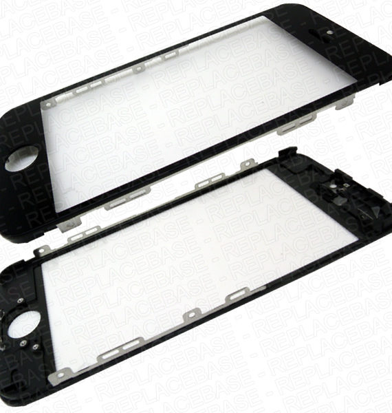iPhone 5 Glass & Frame (Cold Press Glue) - Black - Royalty Parts